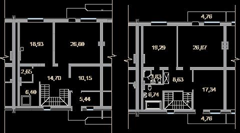 Планировка Таун Хаус площадью 177.7 кв.м в ЖК «Мои Териоки»