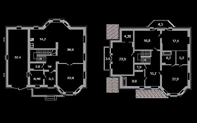 Планировка Коттедж площадью 267.2 кв.м в ЖК «Мои Териоки»