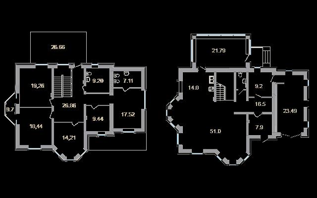 Планировка Коттедж площадью 270.7 кв.м в ЖК «Мои Териоки»